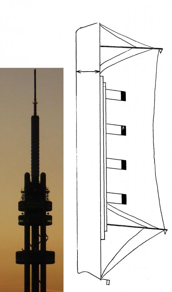 269 m dlouhý Titanic postavený na špici by převyšoval Žižkovskou věž (216 m)